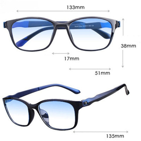 Image of Anti Blue Rays Reading Glasses Presbyopia Anti-fatigue Computer Eyewear with 0 +1.5 +2.0 +2.5 +3.0 +3.5 +4.0