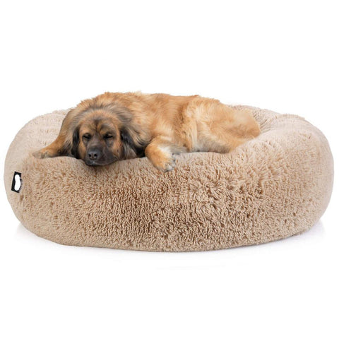 Image of Marshmallow Donut Cuddler Dog Super Soft Plush Bed XXL