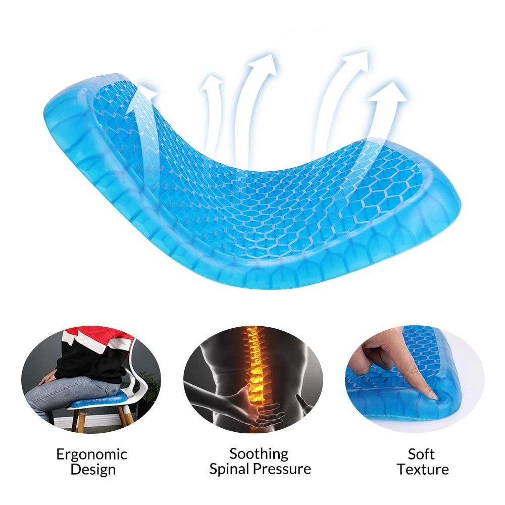 Honeycomb Flexible Orthopedic Gel Cushion (NEW LARGER SIZE)