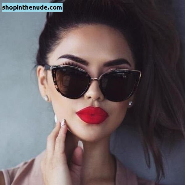 Round Cat Eye Gradient Tint Sunglasses UV400