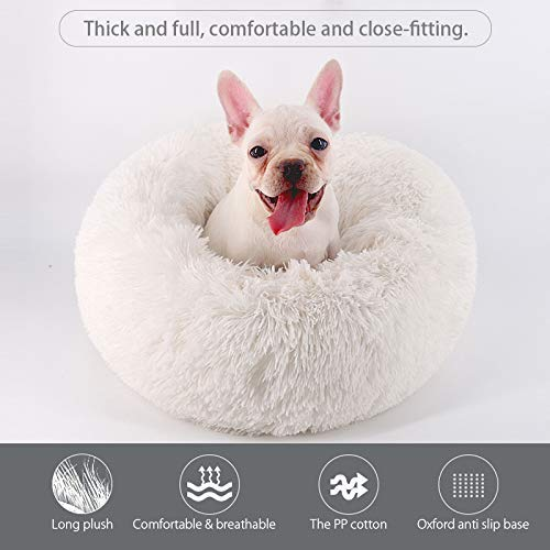 Marshmallow Donut Cuddler Cat & Dog Super Soft Plush Bed (XS to XXL)