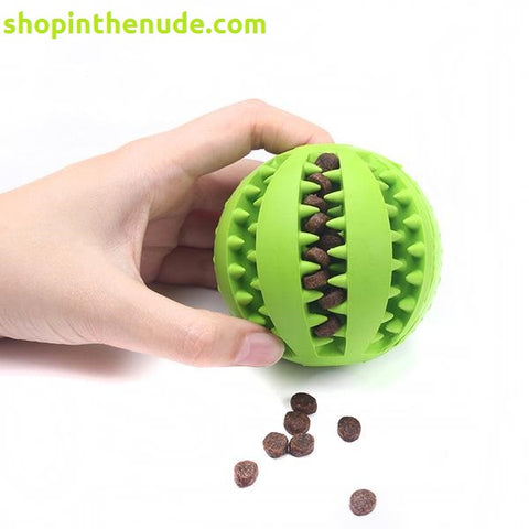 Dog Rubber Treat Ball/Teeth Cleaning ball - ShopInTheNude.com