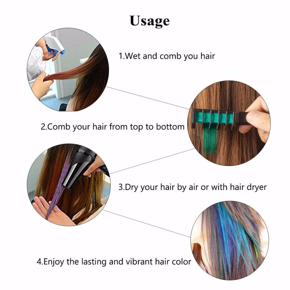 Temporary Hair Dye Comb - Non Damaging (Buy 1 get 5 FREE!) - ShopInTheNude.com