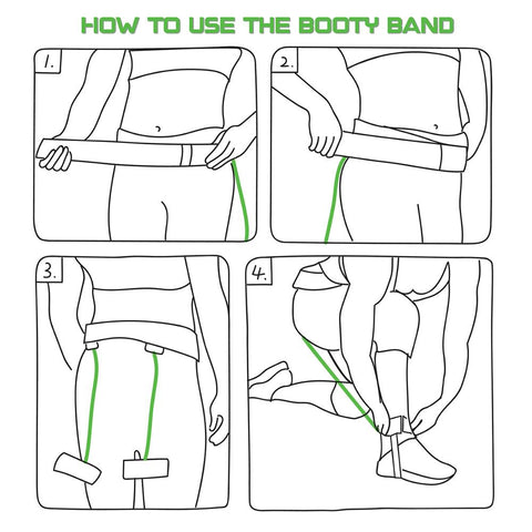 Better Booty Band System- Butt Resistance Workout Belt (New, Improved and Upgraded!)