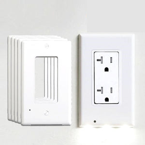 5/10 Pack Plug Cover LED Night Light / Activated Safety Wall Outlet Night Lamp Bundles (USA)