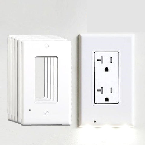 Image of 5/10 Pack Plug Cover LED Night Light / Activated Safety Wall Outlet Night Lamp Bundles (USA)