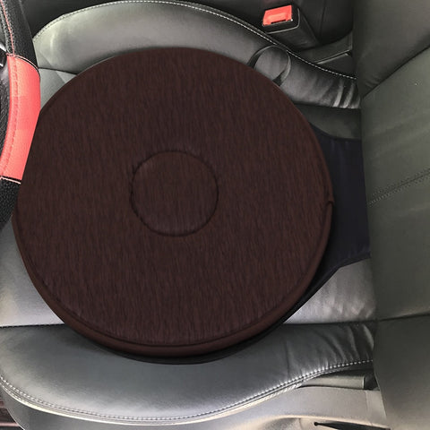 Image of 360° Rotation Car Seat Cushion Swivel Memory Foam Mobility Aid Chair Seat Pad