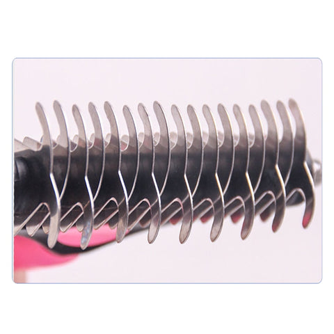 Image of Trimming Dematting Detangler Deshedding Grooming Tool Comb for Fur for Dogs & Cat