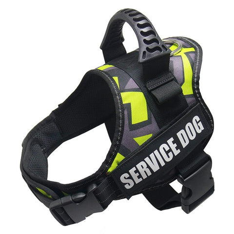Image of Service Dog Harness / Vest - No Choking Adjustable Nylon Reflective Comfortable Ergonomic Harness