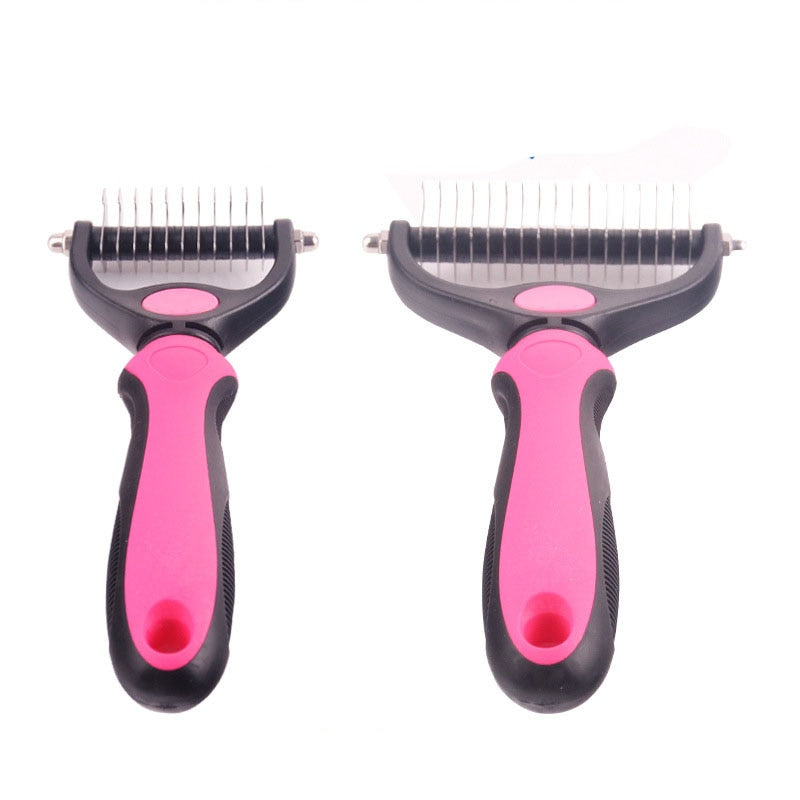 Trimming Dematting Detangler Deshedding Grooming Tool Comb for Fur for Dogs & Cat
