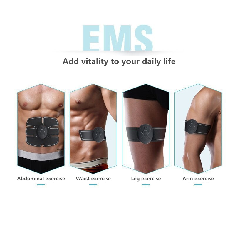 2/4/6/8pcs Set Hip Trainer Abdominal Machine Electric Muscle Stimulator (EMS) Abs Trainer Body slimming Massage without retail box - ShopInTheNude.com