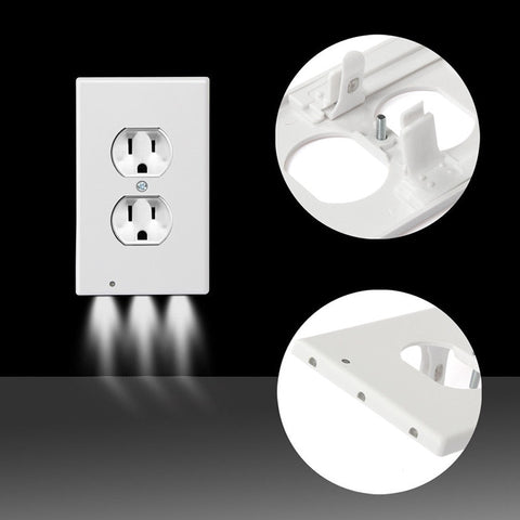 Plug Cover LED Night Light PIR Body Motion Sensor Activated Safety Light Angel Wall Outlet Hallway Bedroom Bathroom Night Lamp - ShopInTheNude.com