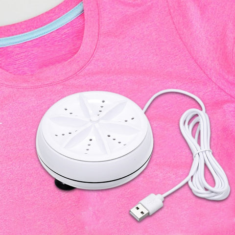 Portable Mini Washing Machine Ultrasonic & Turbine Clothes Mini Washer with USB Cable For Travel & Home