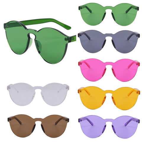 Image of Flat Frameless Candy Color Sunglasses UV400