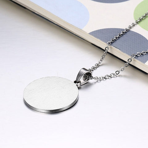 Gay / Bi Jewelry Yin and Yang Rainbow Pendant Necklaces Stainless Steel Round Tag - ShopInTheNude.com