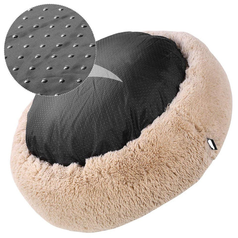 Image of Non Slip Bottom Marshmallow Donut Cuddler Cat & Dog Super Soft Plush Bed (XS to XXL)