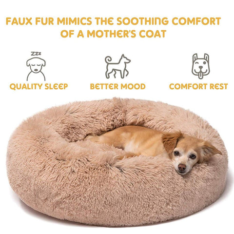 Image of Marshmallow Donut Cuddler Cat & Dog Super Soft Plush Bed (XS to XXL)