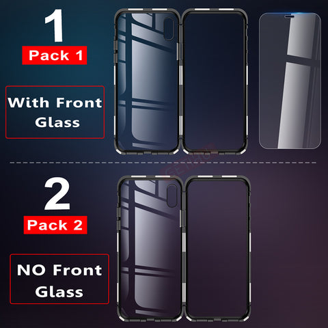Image of Luxury Metal & Tempered Glass Back Magnetic Case for iPhone (HINT: Clear Glass Shows the Beauty of your iPhone) - ShopInTheNude.com