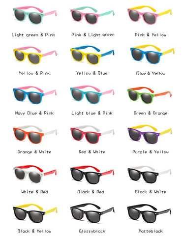 Image of Non-Breakable Flexible Polarized Children Sunglasses  UV400 Eyewear