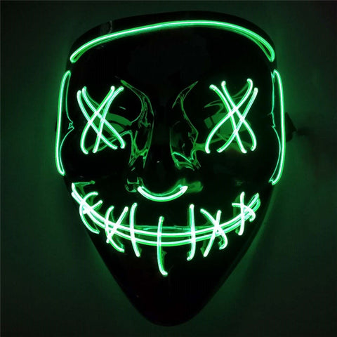 Halloween LED Mask Purge Masks 10 Colors Costume party Light Up Mask (USA 4-7 Fast Ship)