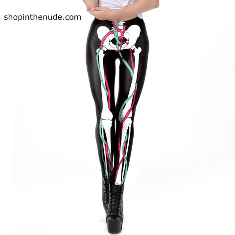 Image of Skeleton Bones Leggings Goth / Rocker Perfect for Work out or Going Out. - ShopInTheNude.com