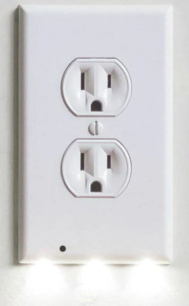 DUPLEX Plug Cover LED Night Light Ambient Light Activated Safety Wall Outlet