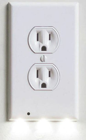 Image of DUPLEX Plug Cover LED Night Light Ambient Light Activated Safety Wall Outlet