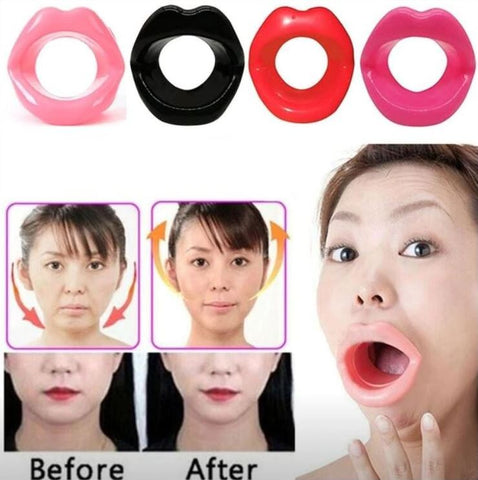 Image of Silicone Face Exerciser Trainer Tightener Natural Facelift Face Muscle Trainer Anti-Wrinkle Anti-Sagging