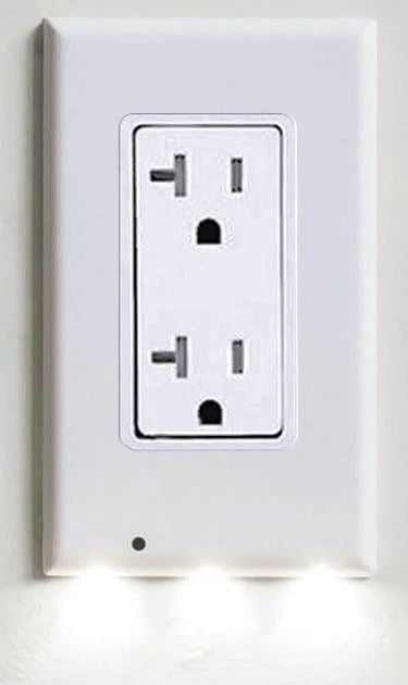 BLOCK Plug Cover LED Night Light Ambient Light Activated Safety Wall Outlet