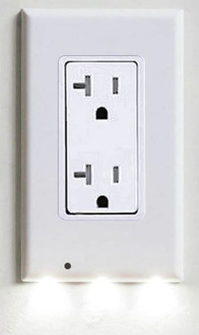 Image of BLOCK Plug Cover LED Night Light Ambient Light Activated Safety Wall Outlet