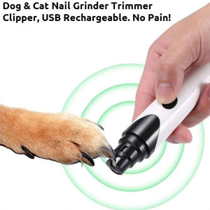 Dog Cat Nail Grinder Trimmer Clipper USB Rechargeable No Pain (Fast USA Ship)