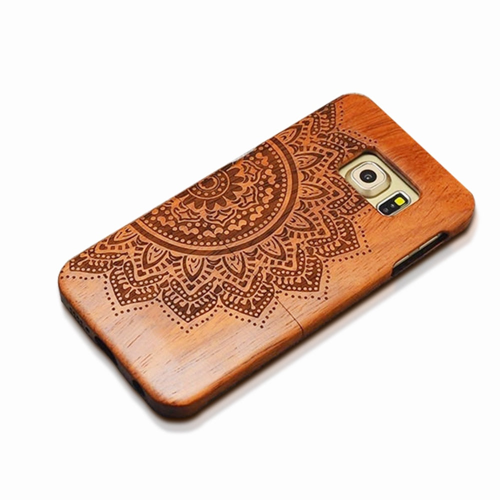 Natural Wood Case For iPhone 7, 6, 6s, Plus, SE, 5, 5s  Genuine Real Carved (Embossed) Rosewood, Bamboo, Cherry, Blank Wooden Phone Cases - ShopInTheNude.com