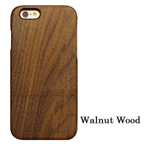 Image of Natural Wood Case For iPhone 7, 6, 6s, Plus, SE, 5, 5s  Genuine Real Carved (Embossed) Rosewood, Bamboo, Cherry, Blank Wooden Phone Cases - ShopInTheNude.com