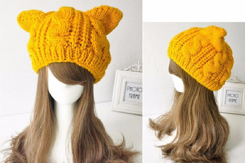 Cat Ears Women's Knit Beanie. - ShopInTheNude.com