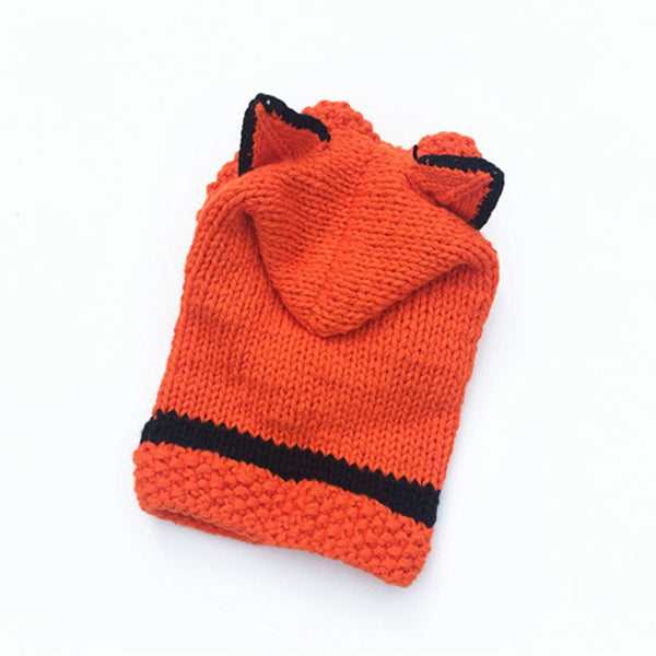 Animal Hoods For Kids!  Warm Hat Neck Warmer All-In-One With Animal Ears.  Handmade. - ShopInTheNude.com
