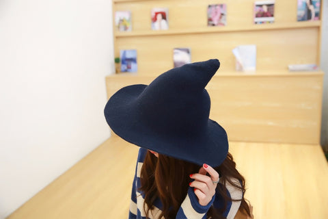 Wool Knit Witch Pointy Hat - ShopInTheNude.com