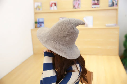 Image of Wool Knit Witch Pointy Hat - ShopInTheNude.com