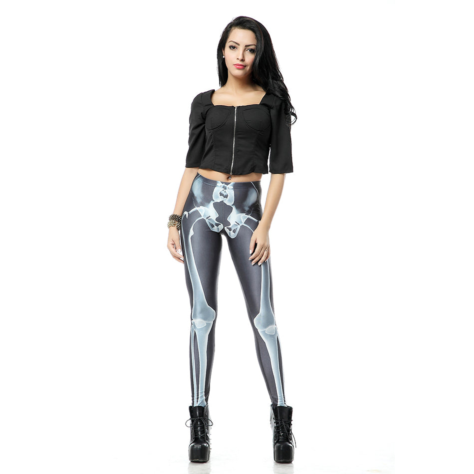 Skeleton Bones Leggings Goth / Rocker Perfect for Work out or Going Out. - ShopInTheNude.com