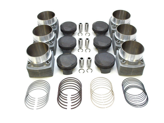 PS98-010 Piston & Cylinder Kit PORSCHE 911 Carrera 3.2L to 3.4L (1984-1989) Motronic Inject MAHLE Motorsport