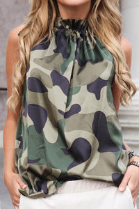 Ootdlady Printed Tank Top (Camo & Floral & Leopard Print)