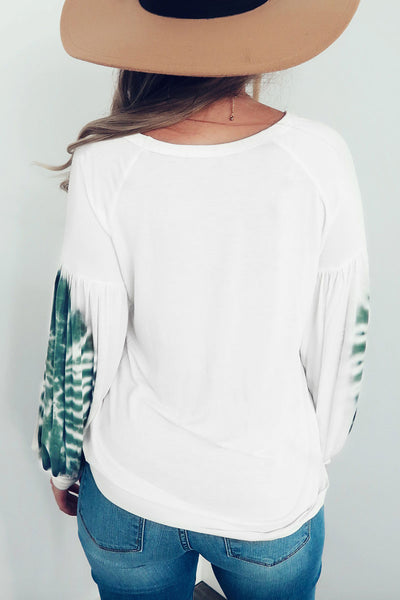 Ootdlady Printed White T-shirt