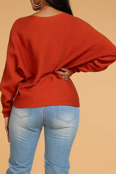 Ootdlady Casual Basic Jacinth Sweater