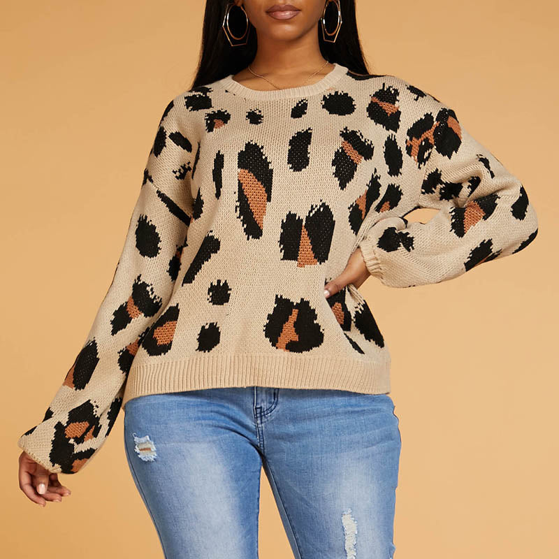 Ootdlady Chic Basic Leopard Sweater
