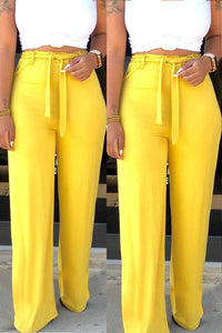 Ootdlady Leisure Loose Yellow Pants