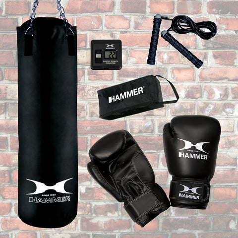 Hammer Boxing Boxsack Chicago mit Boxcomputer, 92068