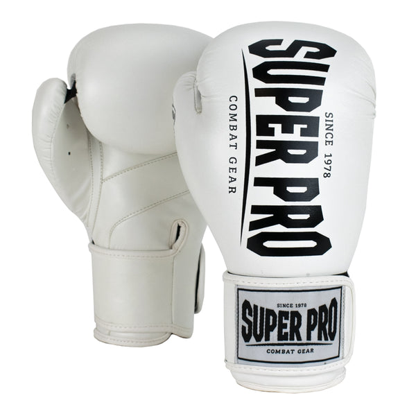Super Pro Combat Gear Champ Boxhandschuhe white/black 14oz , SPBG120-10900-14