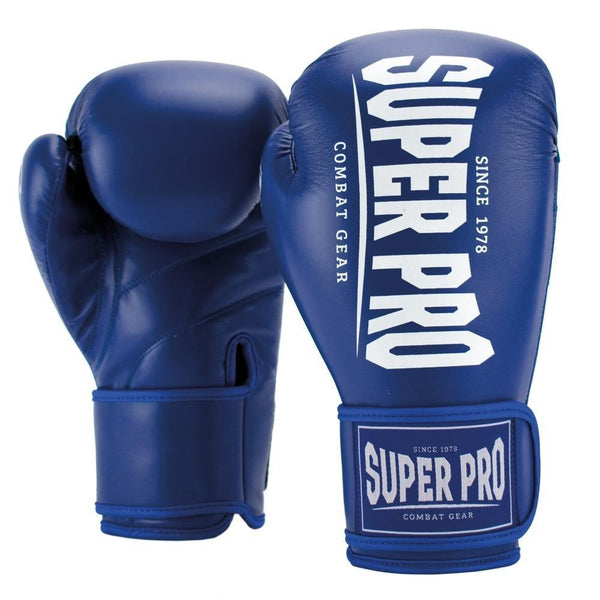 Super Pro Combat Gear Champ (Kick-)Boxhandschuhe blue/white 12oz , SPBG120-60100-12