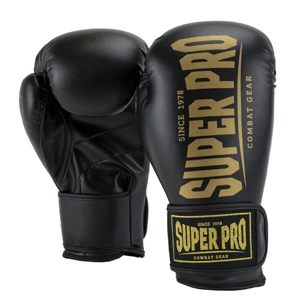 Super Pro Combat Gear Champ SE (Kick-)Boxhandschuhe black/gold 12oz , SPBG120-90351-12