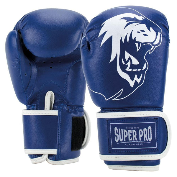 Super Pro Combat Gear Talent (Kick-)Boxhandschuhe blue/white 6oz , SPBG130-60100-6