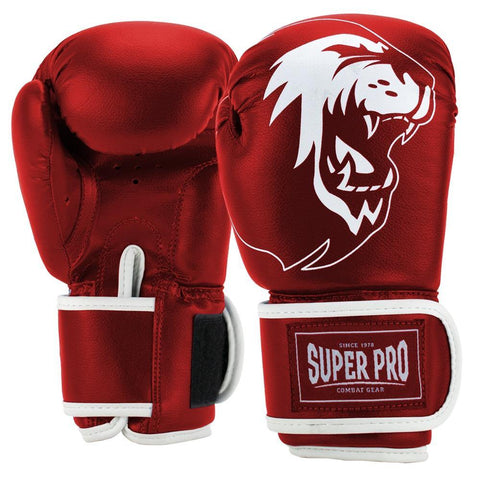 Super Pro Combat Gear Talent (Kick-)Boxhandschuhe red/white 6oz , SPBG130-40100-6